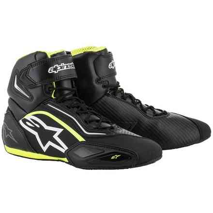 Faster-2 Shoes black white yellow fluo Alpinestars