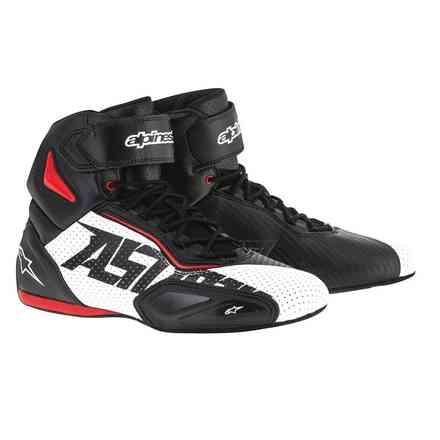 Faster 2 vented black-white-red Shoe Alpinestars