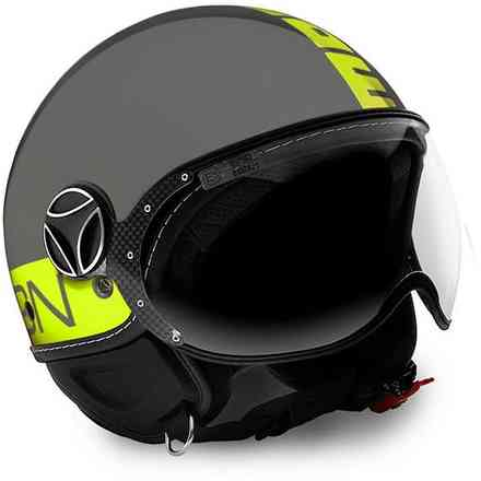 Fgtr Fluo Grey yellow Helmet Momo