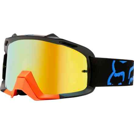 Fox Racing Air Space Goggles Black and Yellow Fox