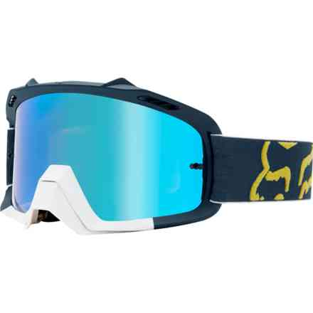 Fox Racing Air Space Youth Preme Navy Glasses - Red Fox