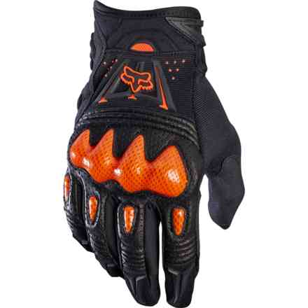 Fox Racing Bomber Glv Black Gloves - Orange Fox