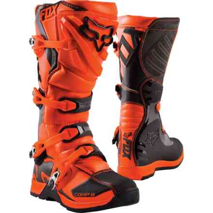 Fox Racing Comp 5y Orange Boots Fox