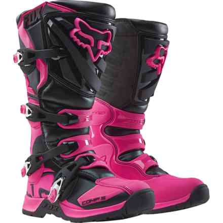 Fox Racing Wmn Comp 5 Schwarz-Pink Stiefel Fox