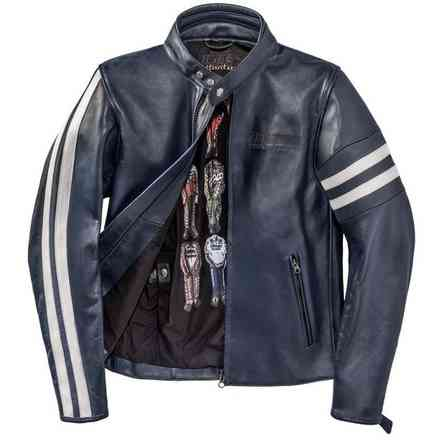 Freccia72 jacket blue white Dainese