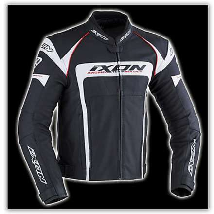 Fueller Black / White  Leather Jacket Ixon