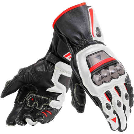 Full Metal 6 gloves black white red Dainese