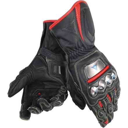 Full Metal D1 gloves black red fluo Dainese
