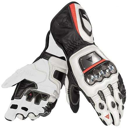 Full Metal D1 Gloves black-white-red fluo Dainese
