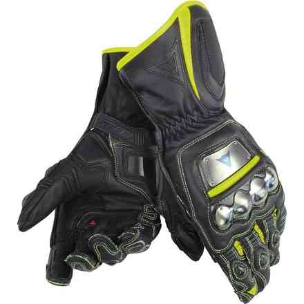 Full Metal D1 gloves black yellow fluo Dainese