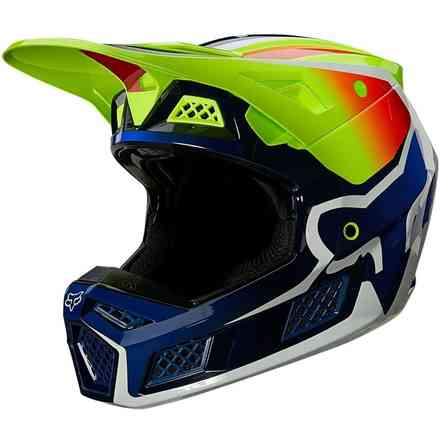 Fx V3 Rs Wired Fluorescent Yellow Helmet Fox
