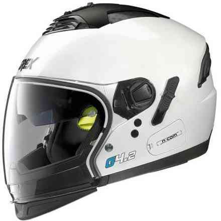 G4.2 Pro Kinetic White Helmet Grex
