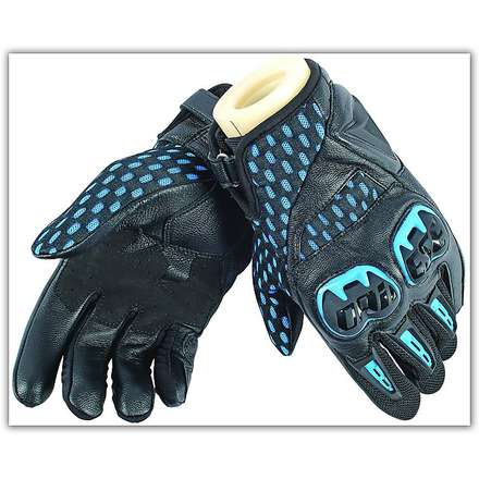 Gants Air Hero Noir-Electric Blue Dainese