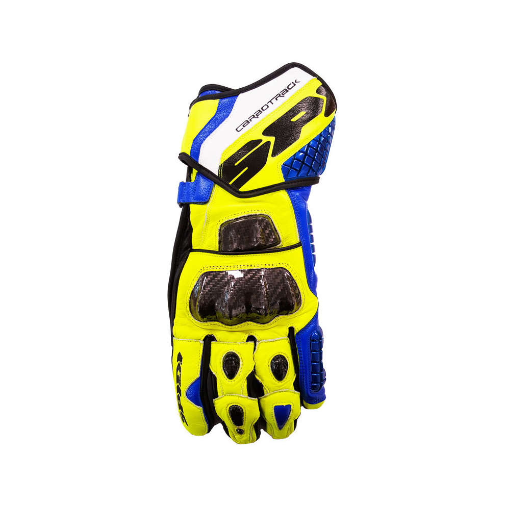Gants Carbo Trak Replica bleu-jaune Spidi