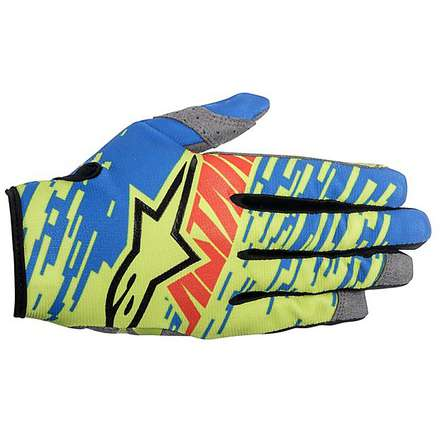 Gants cross Racer Braap 2016 bleu-jaune-rouge Alpinestars
