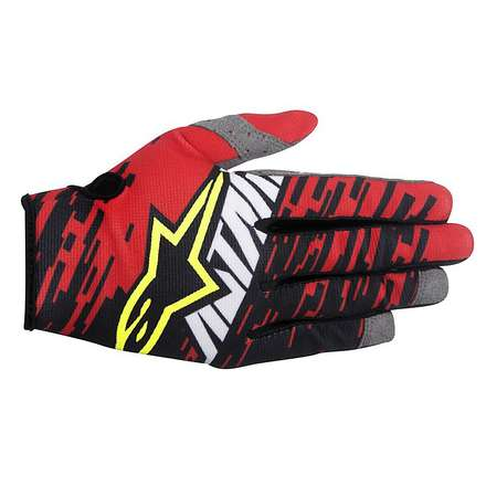 Gants cross Racer Braap 2016 rouge-blanc-noir Alpinestars