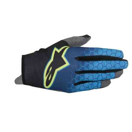 Gants Radar Flight bleu jaune fluo Alpinestars