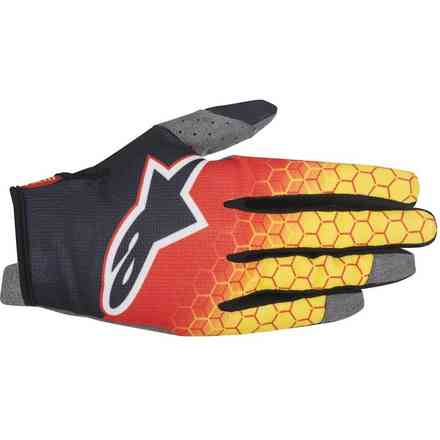 Gants Radar Flight rouge-noir-jaune Alpinestars