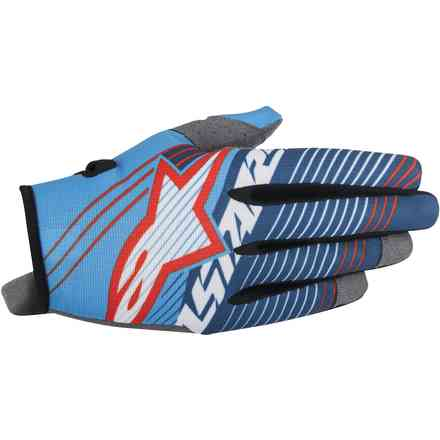 Gants Radar Tracker bleu blanc Alpinestars