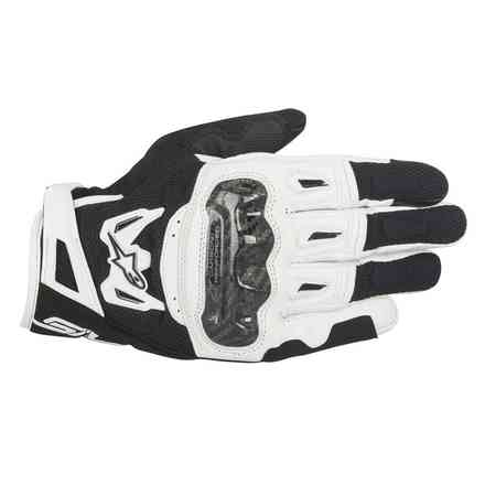 Gants Smx-2 Air Carbon V2 noir blanc Alpinestars