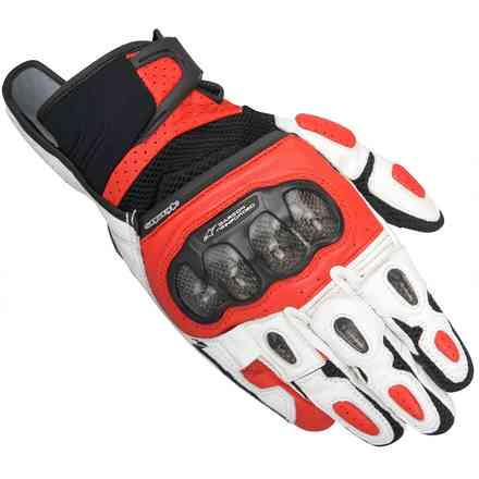 Gants Sp-x  Air Carbon noir-blanc-rouge Alpinestars