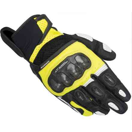 Gants Sp-x  Air Carbon noir-jaune fluo Alpinestars