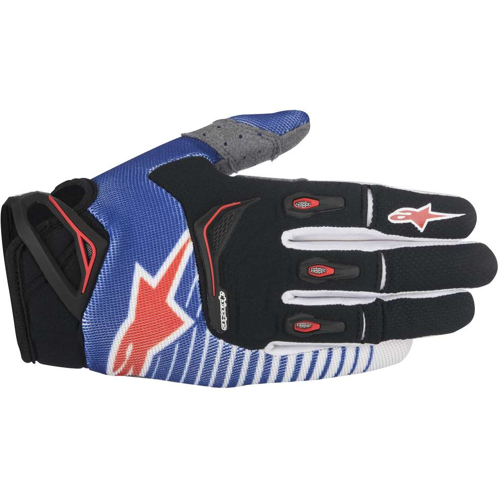 Gants Techstar Factory bleu-blanc-rouge Alpinestars