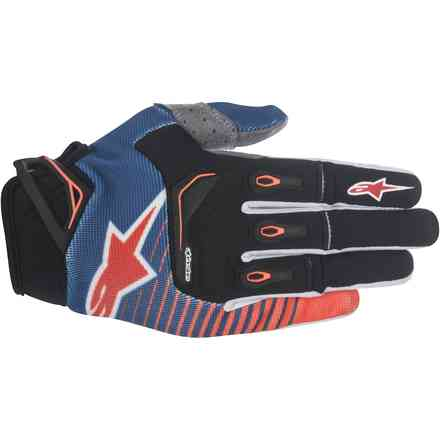 Gants Techstar Factory bleu-orange-blanc Alpinestars