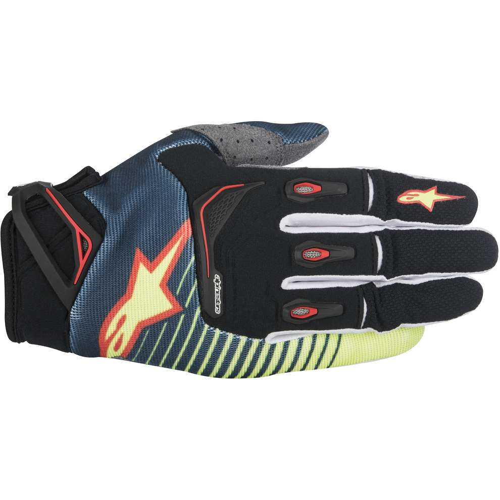 Gants Techstar Factory jaune-rouge Alpinestars