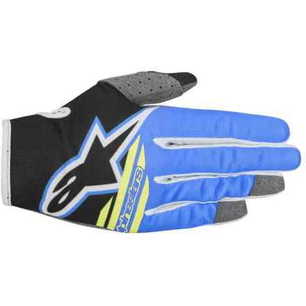 Gants Youth Radar Flight 2018 noir aqua jaune fluo Alpinestars