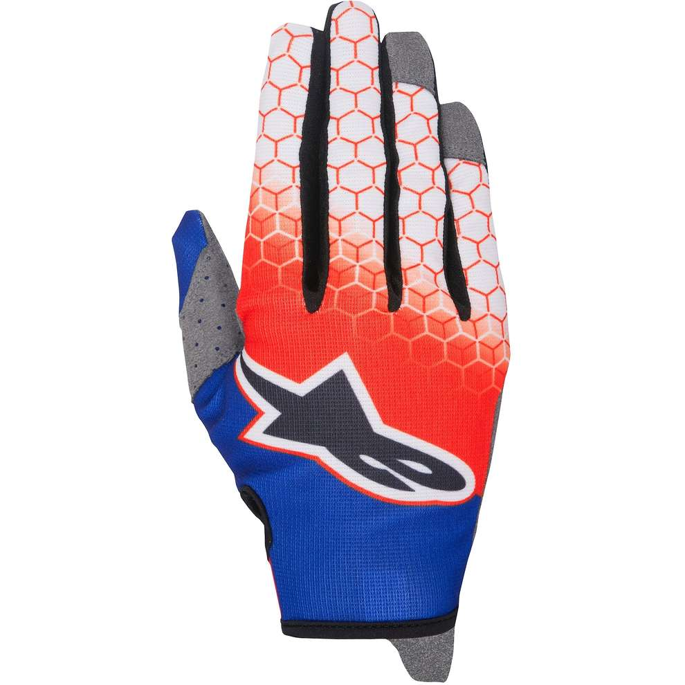 Gants Youth Radar Flight rouge bleu blanc Alpinestars