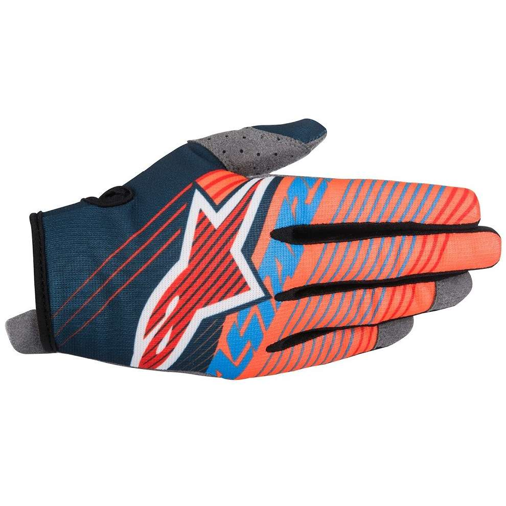 Gants Youth Radar Tracker orange noir Alpinestars