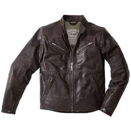 Garage brown Leather Jacket Spidi