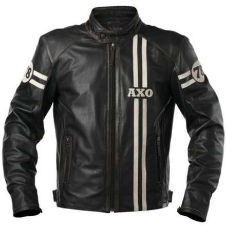 Gasoline Leather Jacket Axo