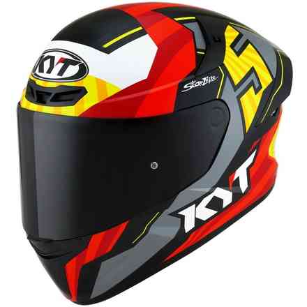 Gelb-roter Tt-Course Helm KYT