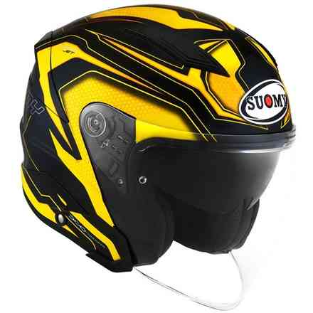 Gelber Speedjet Ready Helm Suomy