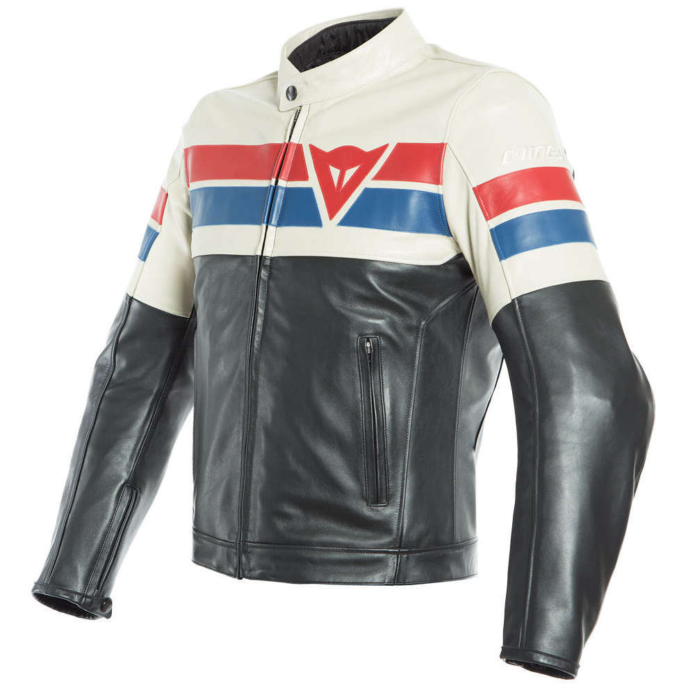 Giacca 8 Track nero ice rosso Dainese