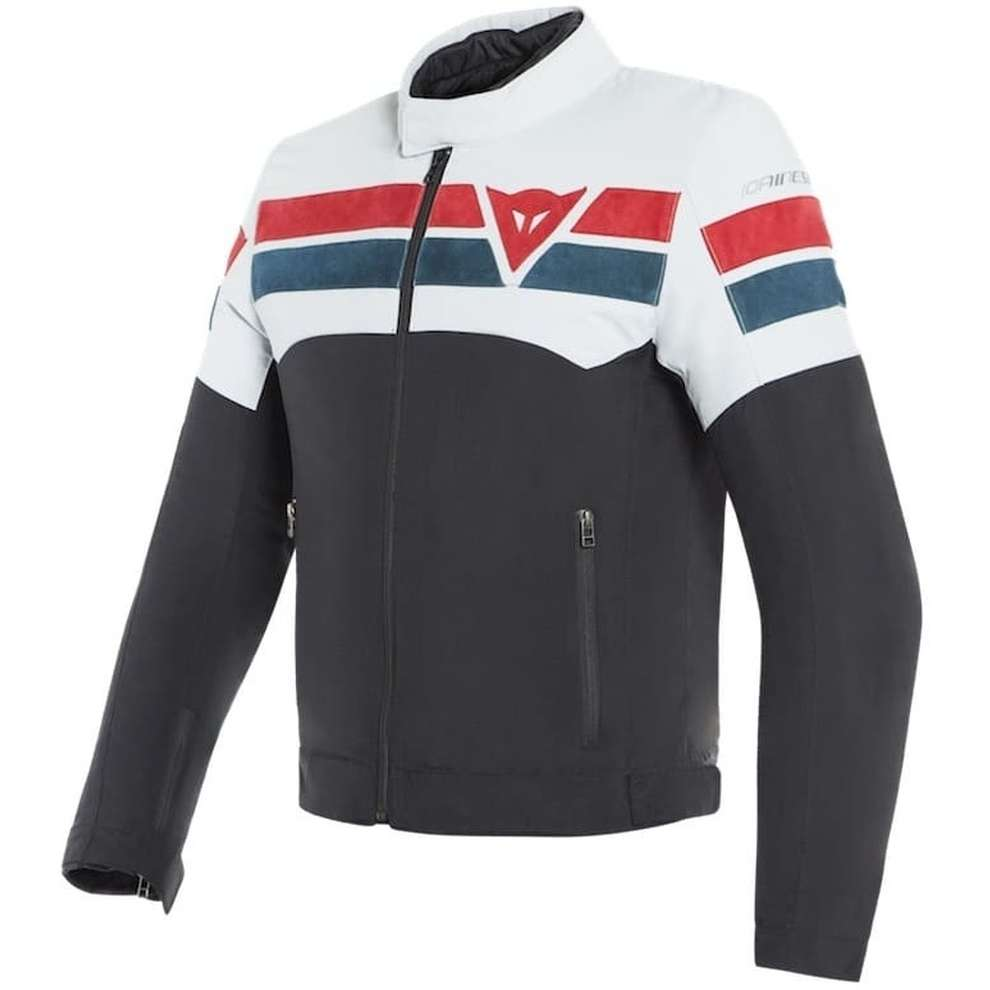Giacca 8 Track Tex nero ice rosso Dainese