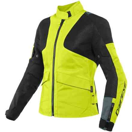 Giacca Air Tourer Lady Tex giallo fluo ebony nero Dainese