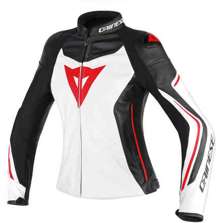 Giacca Assen donna bianco nero rosso Dainese