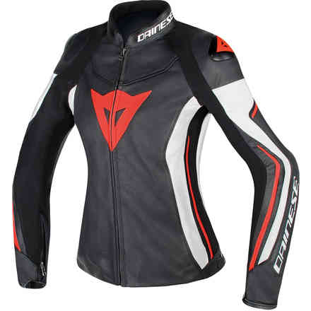 Giacca Assen donna nero bianco rosso fluo Dainese