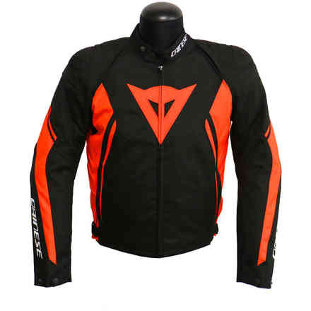 Giacca Avro D2 Tex Nero Rosso Fluo Dainese