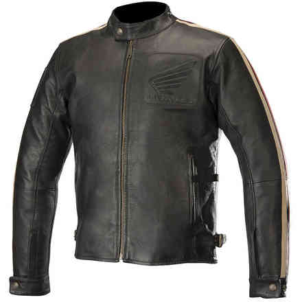 Giacca Charlie Leather Nero Rosso Alpinestars