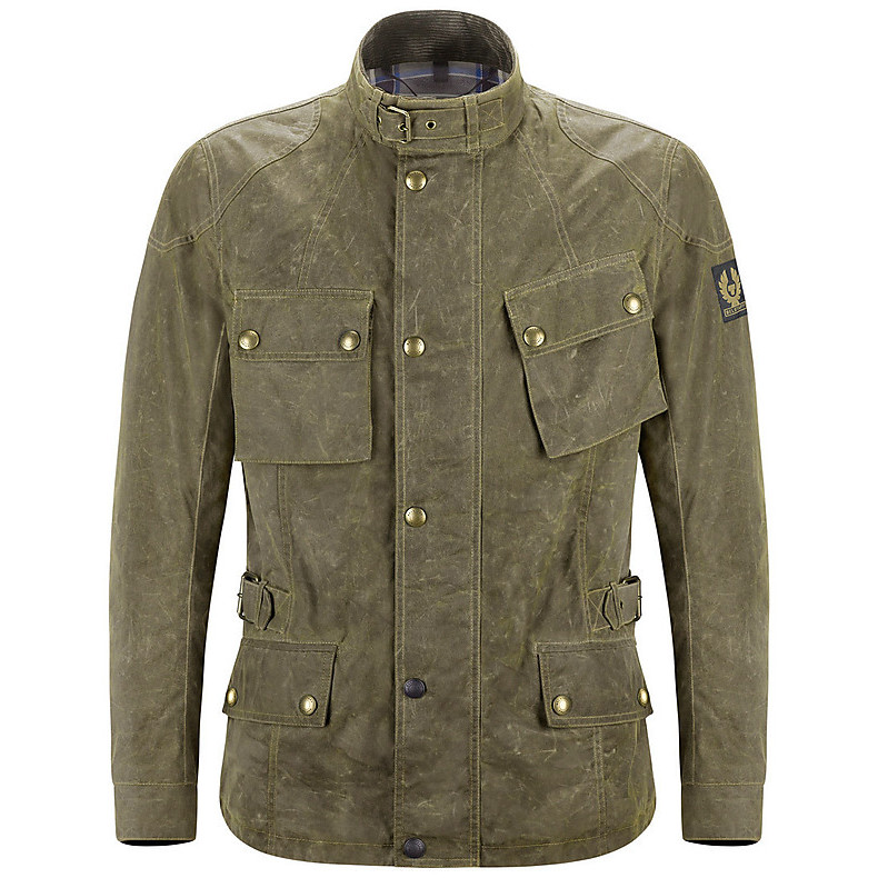 Giacca Crosby British racing Green Belstaff