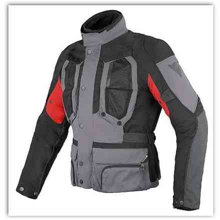 Giacca D-Stormer d-dry castel rock nero rosso Dainese