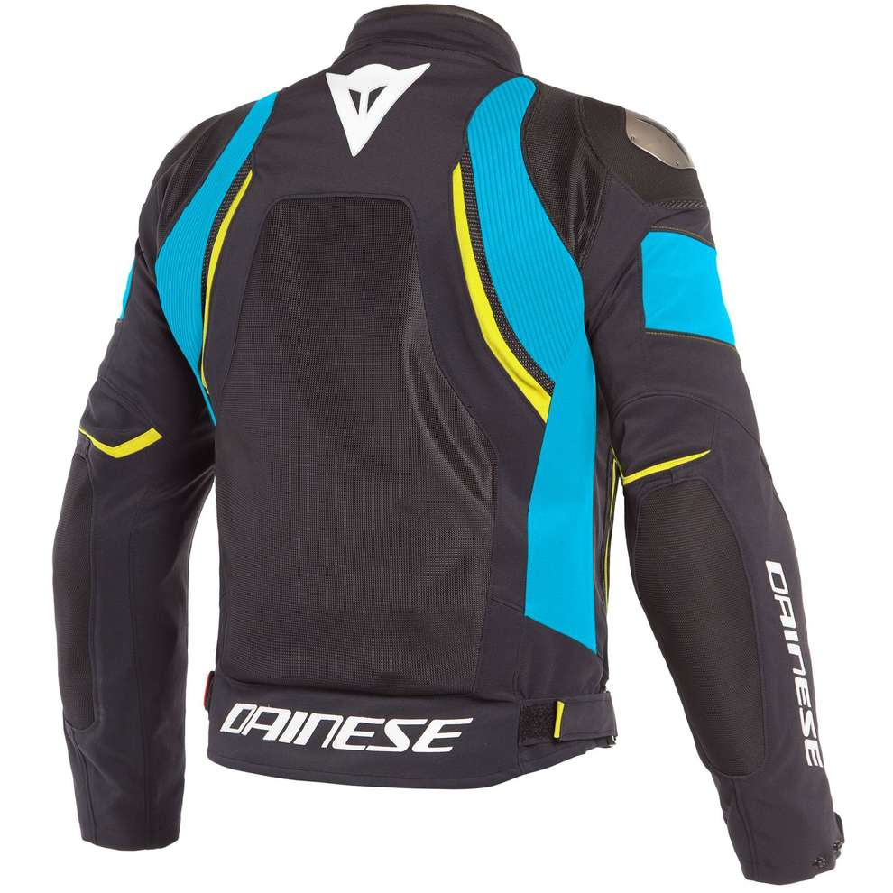 Giacca Dinamica Air D-Dry nero azzurro giallo fluo Dainese