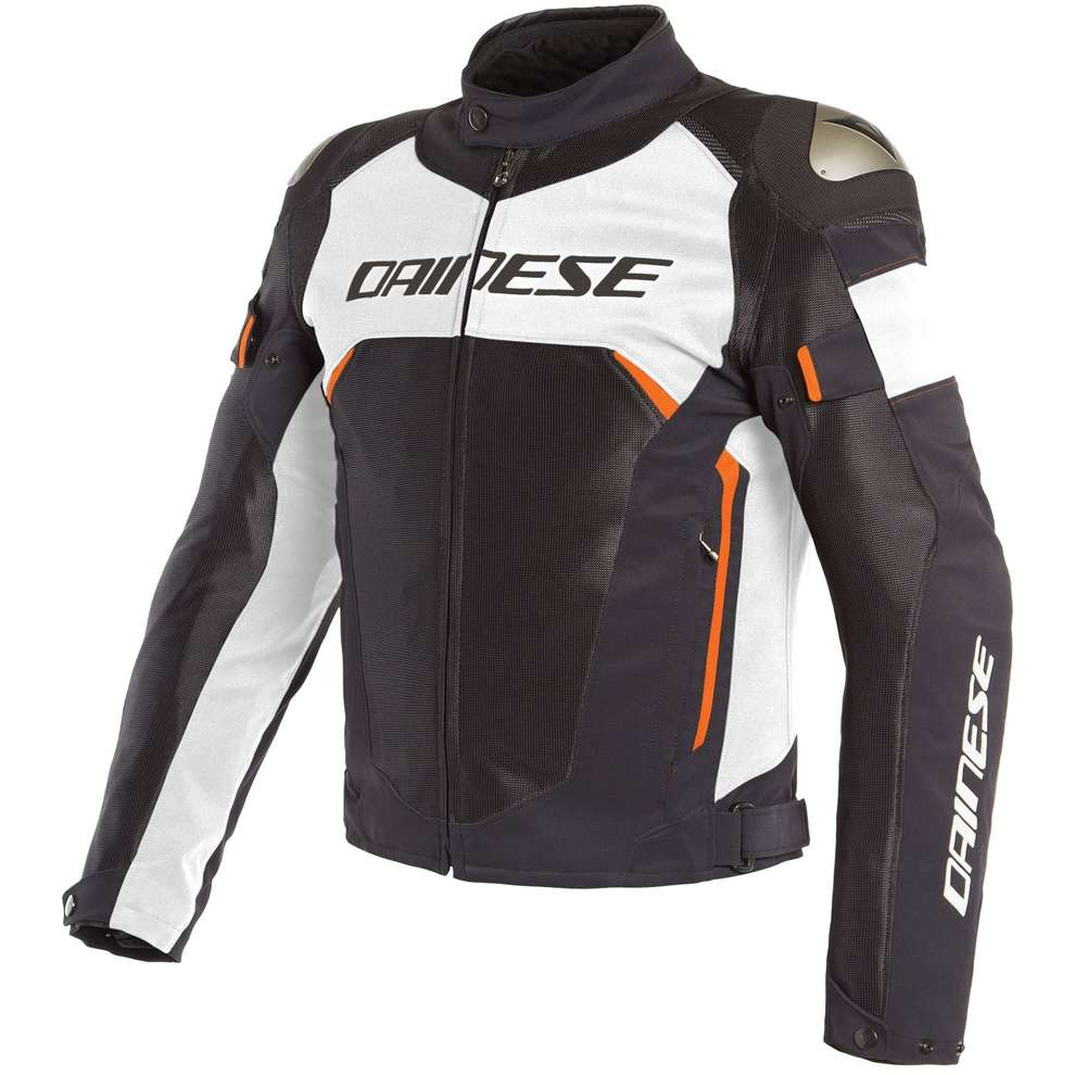 Giacca Dinamica Air D-Dry nero bianco rosso fluo Dainese