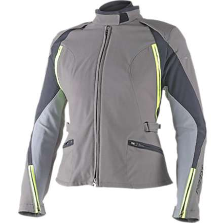 Giacca donna Arya d-dry  Dark gull Gray-Castle Rock-Giallo Fluo Dainese