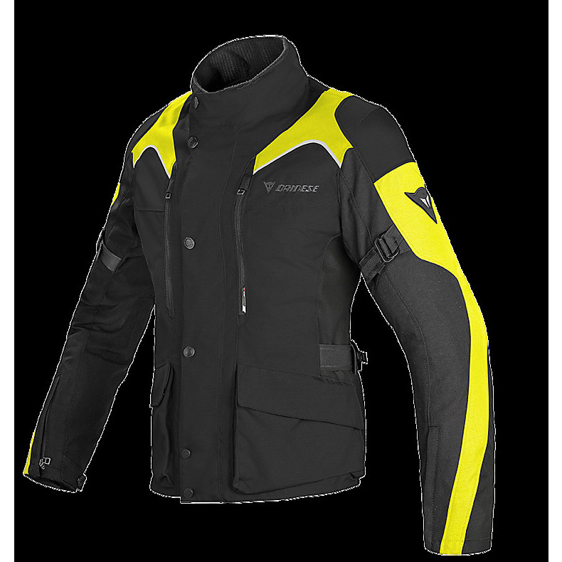 Giacca donna Tempest d-dry nero-giallo fluo Dainese