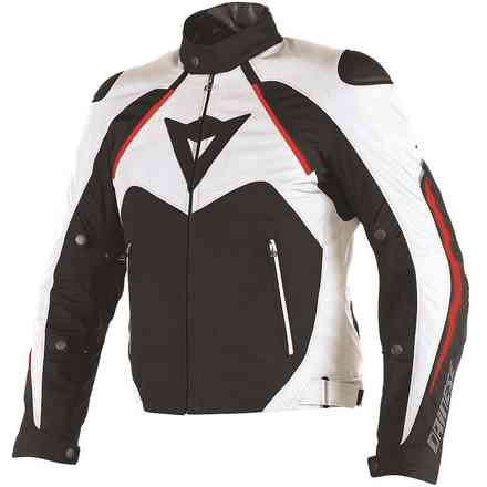 Giacca Hawker d-dry nero bianco rosso Dainese